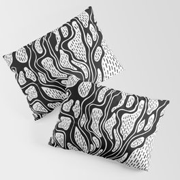 Black and white Roots INK Pillow Sham