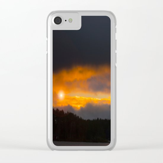 October Cloudy Sunset Clear iPhone Case