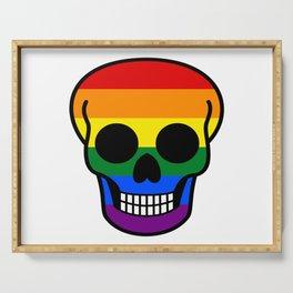 Gay Pride Skull Serving Tray