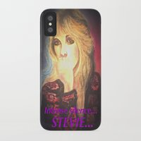 stevie nicks iPhone & iPod Cases featuring Stevie Nicks- Intense Silence by Anne Merritt