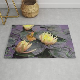 tinker bell & tiger lilies Rug