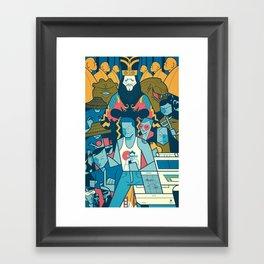 Big Trouble Framed Art Print