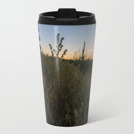 Purple Lupines at Sunset Travel Mug
