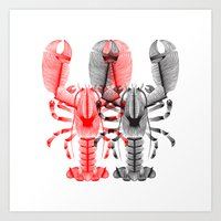 lobster Art Prints featuring Lobster by Patrick Seymour