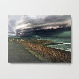 Storm on the Coast Metal Print
