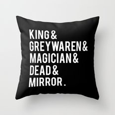 gangsey (the raven cycle) // black Throw Pillow