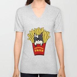 Frenchie Fries Unisex V-Neck