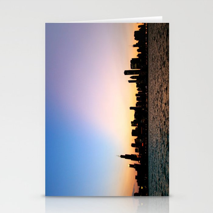 Chicago Skyline Silhouette Stationery Cards
