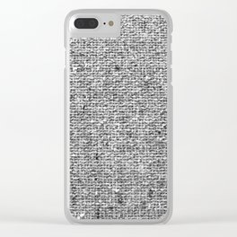 Coarse Grey Linen Clear iPhone Case
