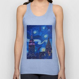 Painting Starry night in new york vincent van gogh Unisex Tank Top