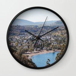 View of San Martin de los Andes Wall Clock