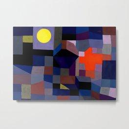 Paul Klee - Fire At Full Moon - 1933 Artwork Reproduction Metal Print