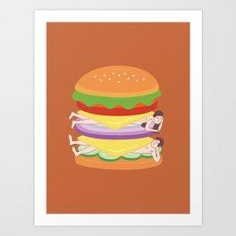 Love Burger Art Print