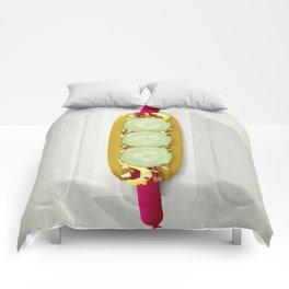 Red Hotdog Comforters