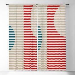 Stripes & Circles 2 Blackout Curtain