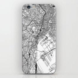 Tokyo White Map iPhone Skin