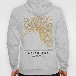 MELBOURNE AUSTRALIA CITY STREET MAP ART Hoody