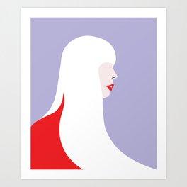 Joni Mitchell (red) Art Print