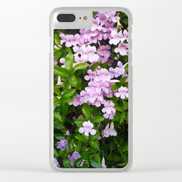 Violet Trumpets Clear iPhone Case