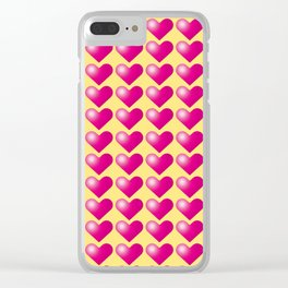 Hearts_D02 Clear iPhone Case
