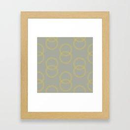 Simply Infinity Link Mod Yellow on Retro Gray Framed Art Print