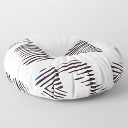 Rolled lines Floor Pillow