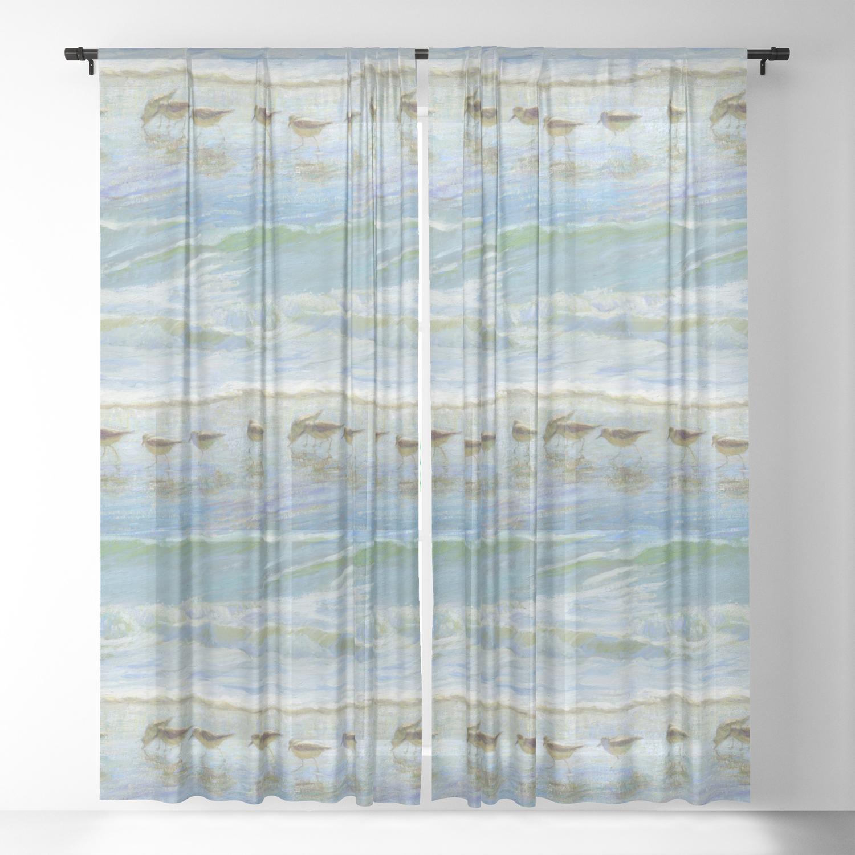 Beach Sheer Curtain By Mmissman
