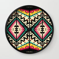tribal Wall Clocks featuring Tribal by Ornaart