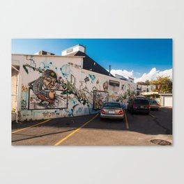 Burger Flip Street Art Canvas Print