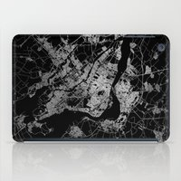 montreal iPad Cases featuring montreal map by Line Line Lines