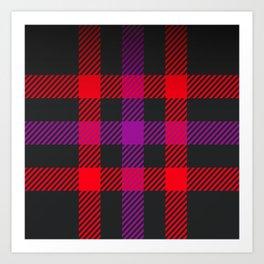 tartan purple red Art Print