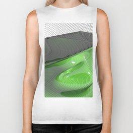 Waving green mathematical surface Biker Tank