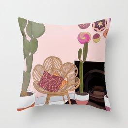 Bohemian Living Room Throw Pillow