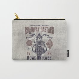 Vintage Motorcycle Poster Style Carry-All Pouch