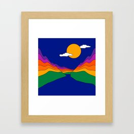 Rainbow Ravine Framed Art Print