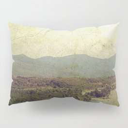 Vintage river landscape and mountain Pillow Sham