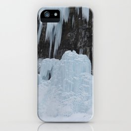 Johnston canyon frozen icicles iPhone Case