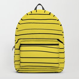 Yellow Handmade Lines Backpack