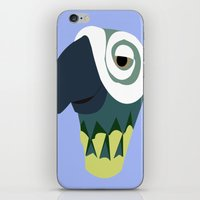 parrot iPhone & iPod Skins featuring Parrot  by Jessica Slater Design & Illustration