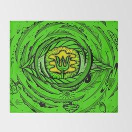 Eye of an Incarnation Green Throw Blanket