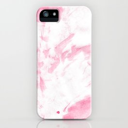 Blush pink white hand painted watercolor brushstrokes iPhone Case
