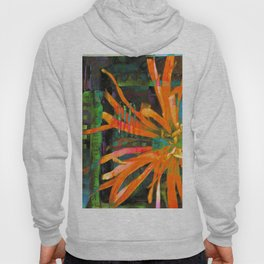 Electric Floral Burst in Tangerine Hoody