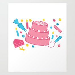 Funny Frosting Queen Cake Decorating graphic Art Print