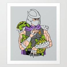 Ninja Pets Art Print