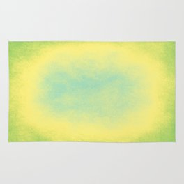 Abstract spring green, yellow and blue Rug