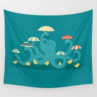 totes Wall Tapestries featuring Keepin' the Chicks Dry by Jay Fleck