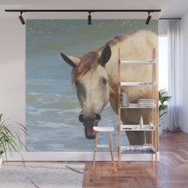 Watercolor Horse 41, Assateague Pony, Assateague, Maryland, Haw Haw Wall Mural