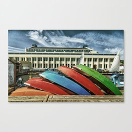 Rowboats at Museum of History and Industry Canvas Print