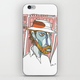 I saw emptiness and found myself there iPhone Skin