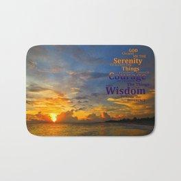Serenity Prayer Sunset By Sharon Cummings Bath Mat